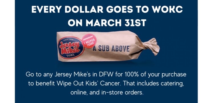 WOKC and Jersey Mike's Partner for the 12th Year in a Row