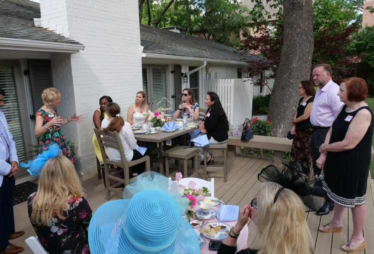 Cindy Speaking to Mothers - Wide Shot